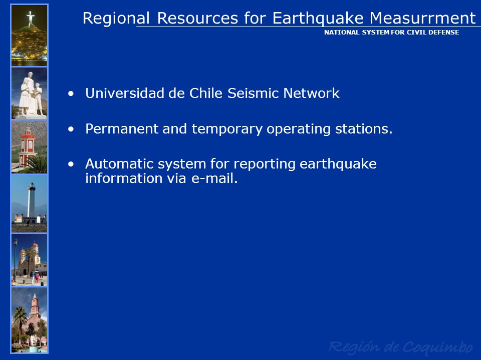Universidad de Chile Seismic Network Permanent and temporary operating stations.