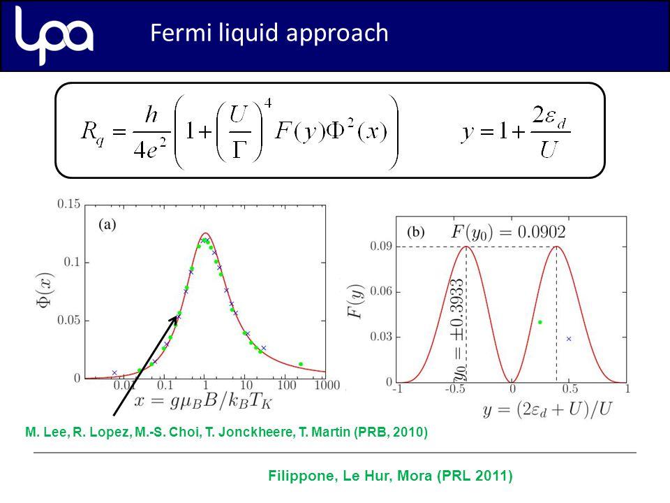 Perturbation theory (second order) Fermi liquid approach M.