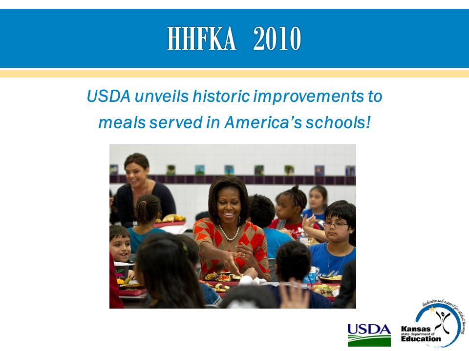 USDA unveils historic improvements to meals served in America's schools!