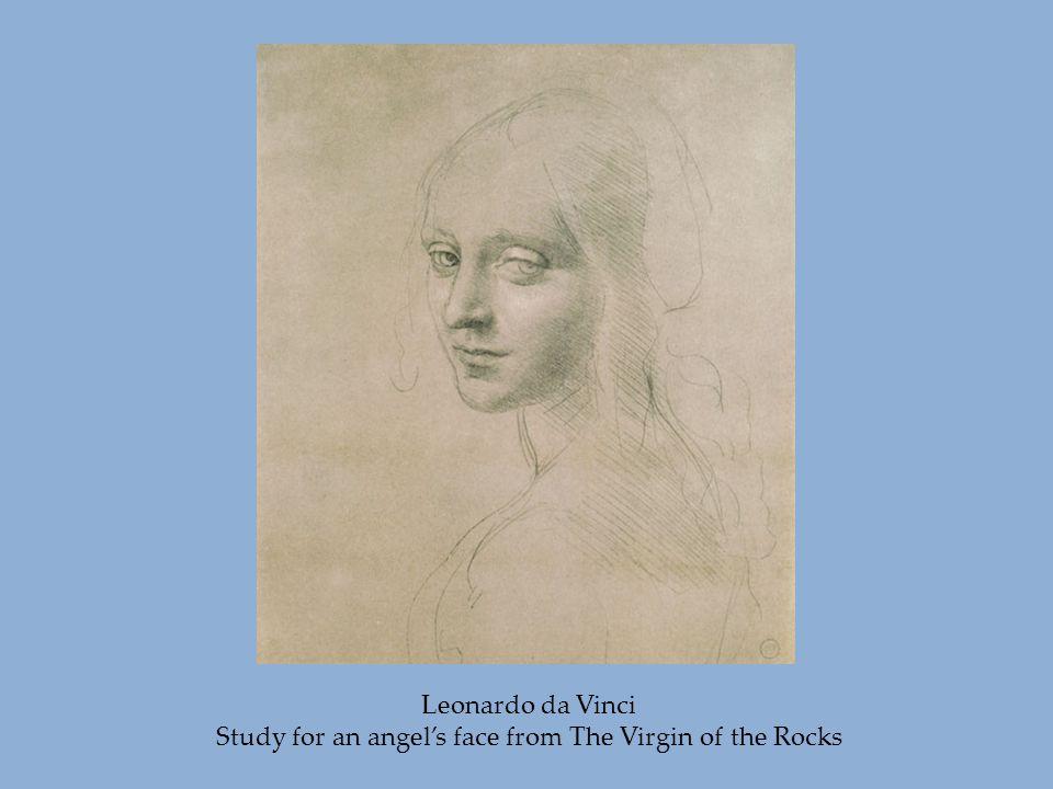 Leonardo da Vinci Study for an angel's face from The Virgin of the Rocks