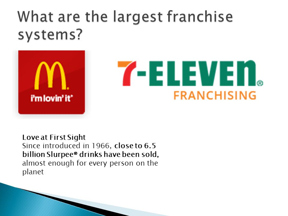  Who's #1?-  Quick Service Restaurants- Sandwiches (6), Frozen Yogurt (4)  Senior Care (10)  Commercial Cleaning- low start-up costs  Janitorial Services- 3 in the top 10.