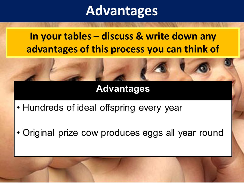 Disadvantages In your tables – discuss & write down any disadvantages of this process you can think of 2 minutes