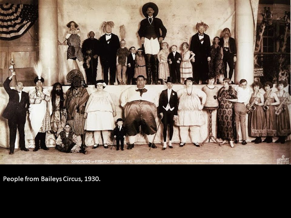 People from Baileys Circus, 1930.