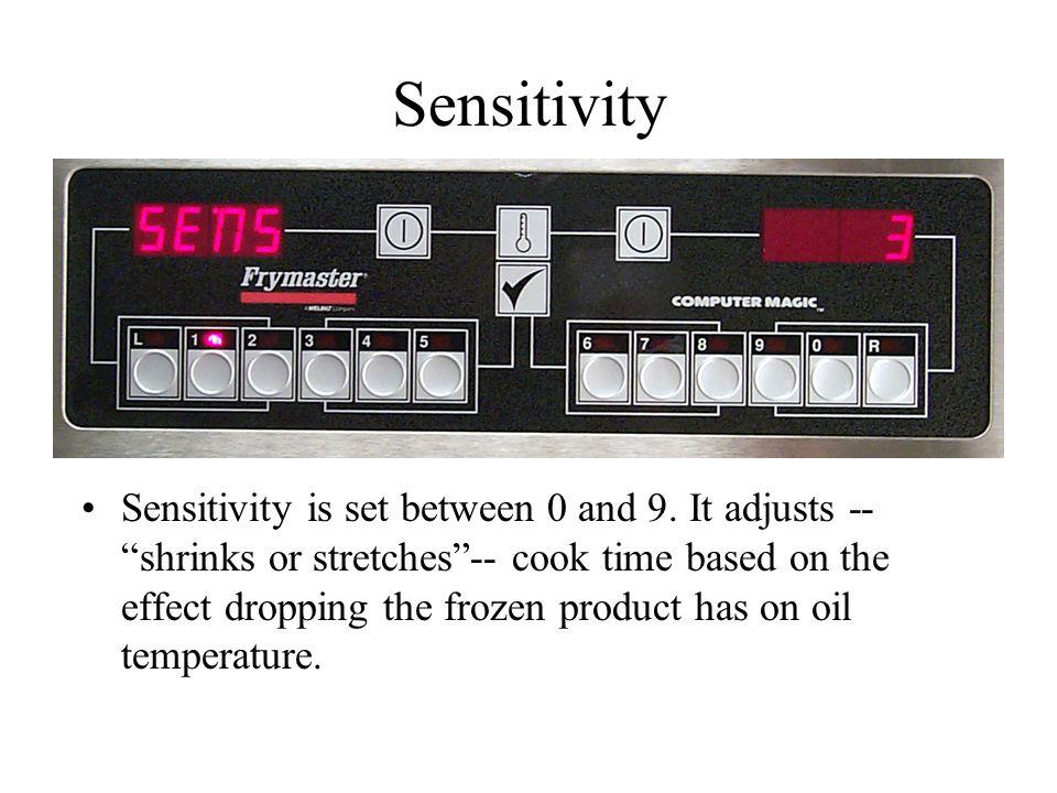 Sensitivity Sensitivity is set between 0 and 9.