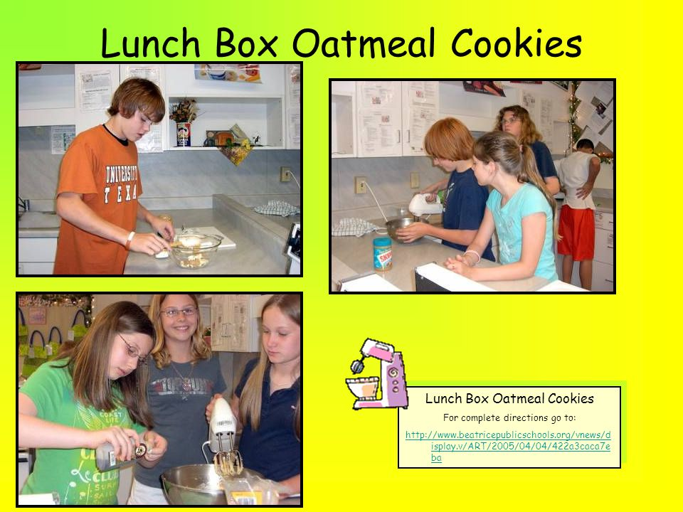 Lunch Box Oatmeal Cookies Sifting flour makes the flour light and fluffy.