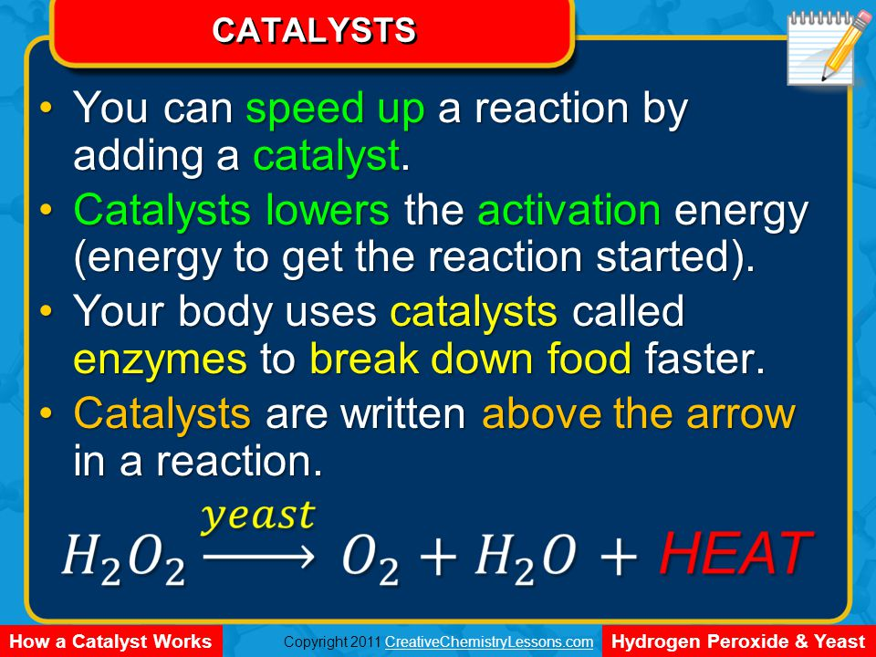 Energy Diagram Reaction Progress Potential Energy reactant product ENDOTHERMIC Can I speed up the reaction.