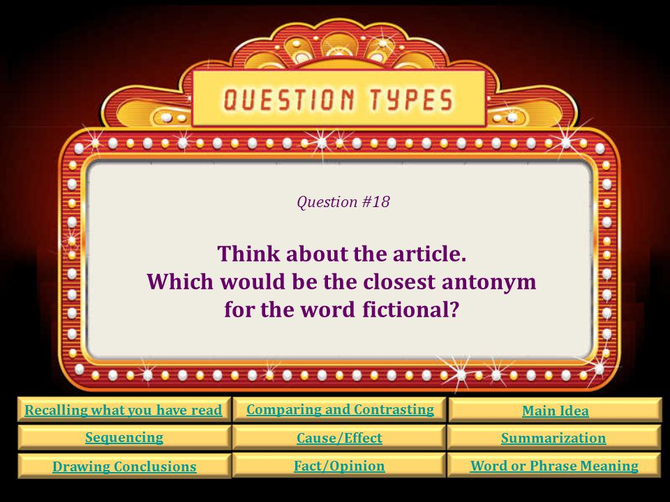 Question #17 The news story says: The U.S. had some unfair laws.