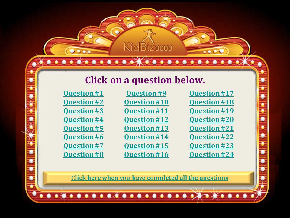 Read the following questions. What type of questions are they.