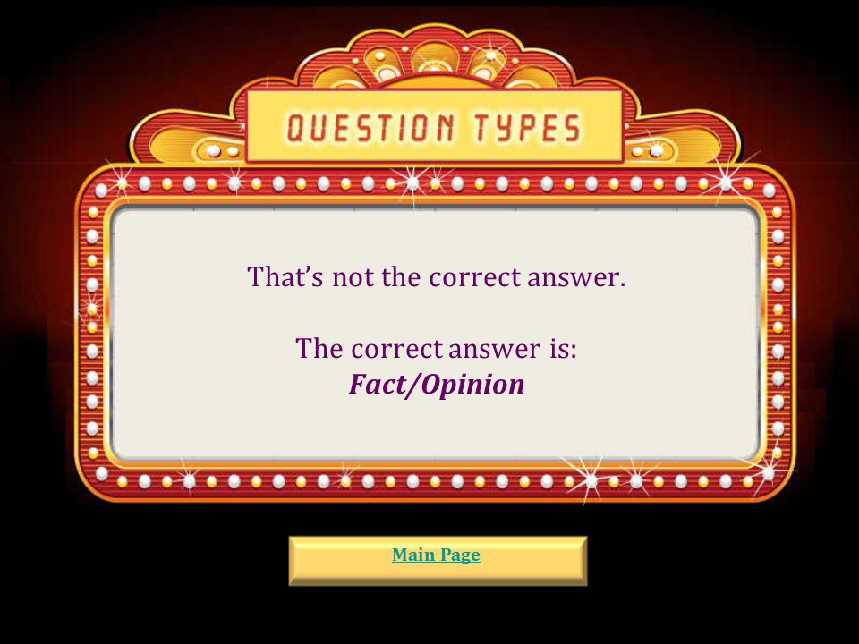 That's not the correct answer. The correct answer is: Cause/Effect Main Page
