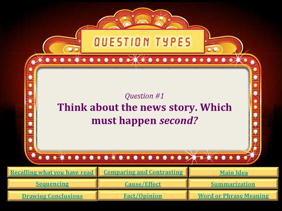 Question #21 Look at these sentences from the news story.
