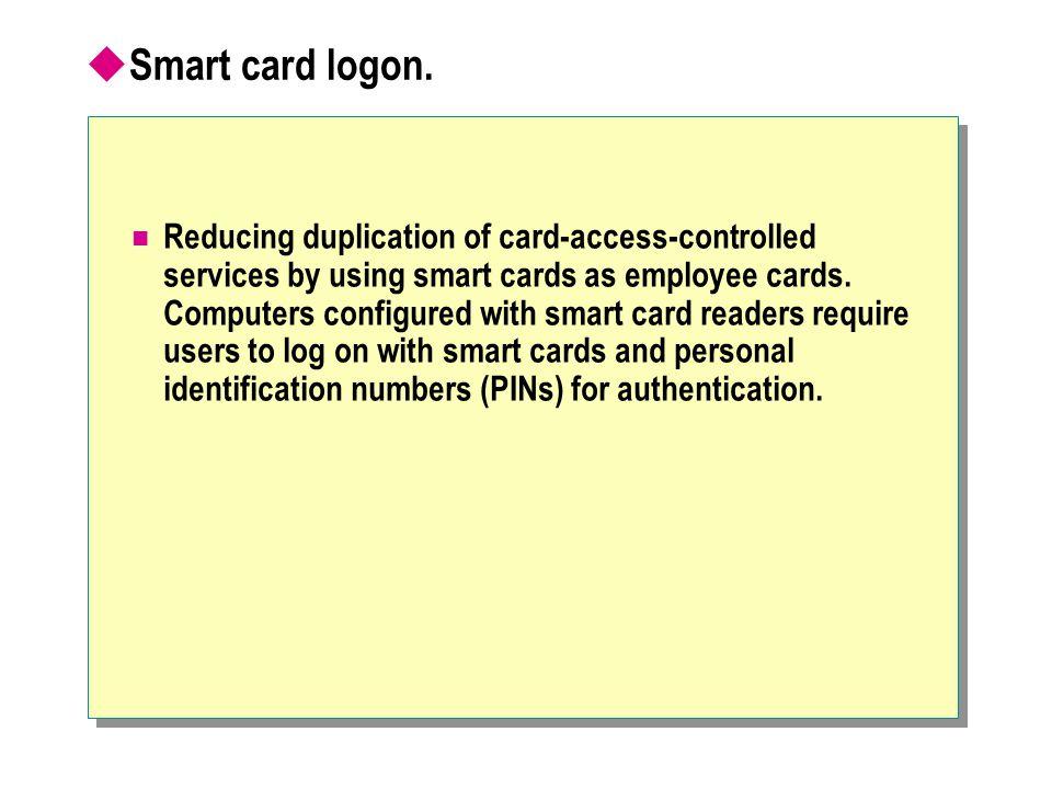  Smart card logon.