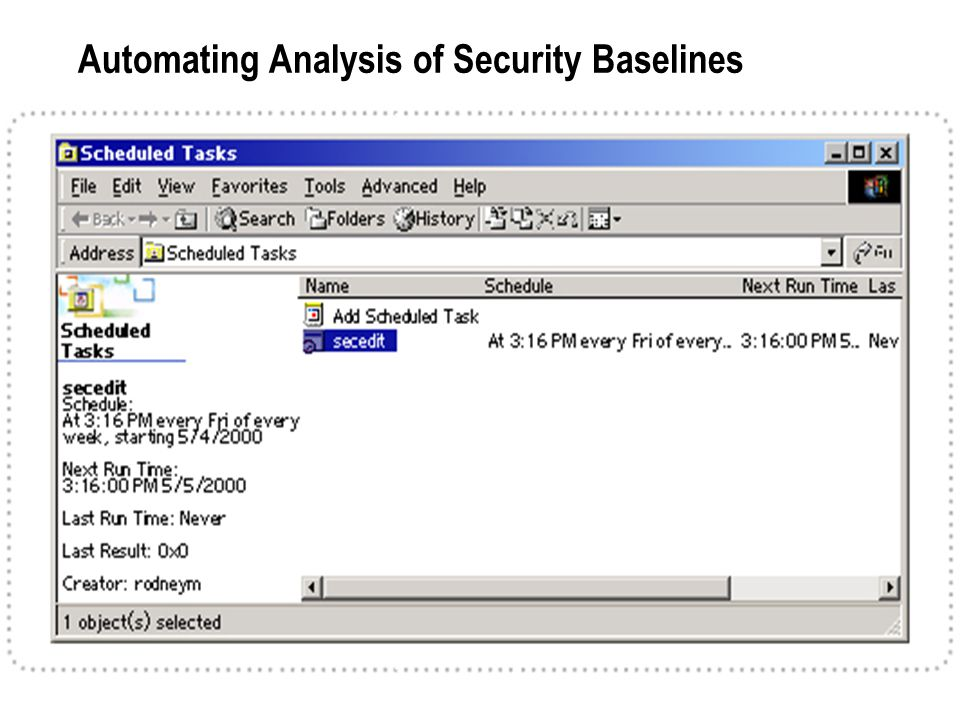 Automating Analysis of Security Baselines