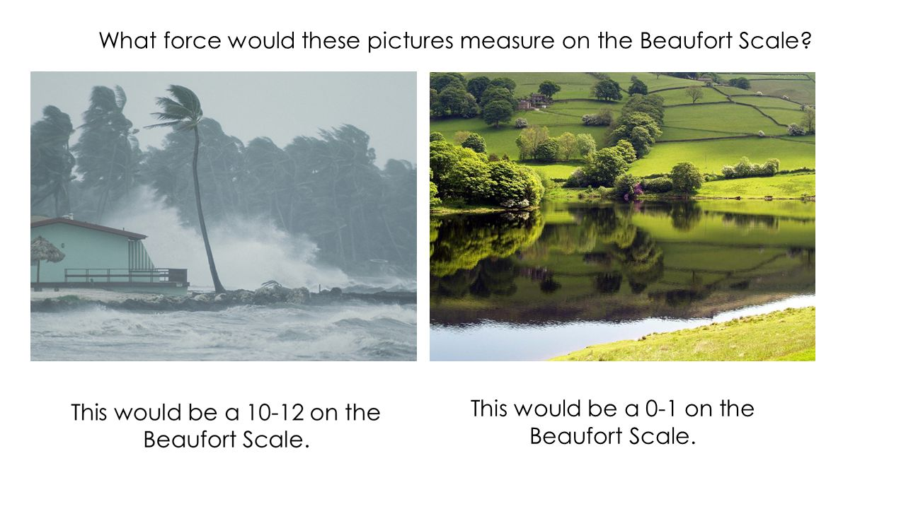 What force would these pictures measure on the Beaufort Scale.