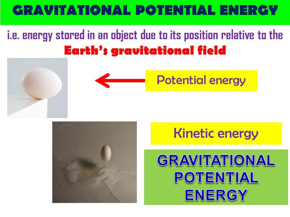GRAVITATIONAL POTENTIAL ENERGY i.e.