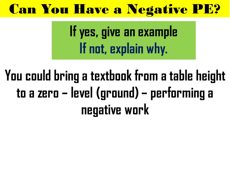 Can You Have a Negative PE.