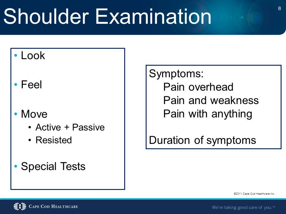 Shoulder Pain - Diagnoses Impingement / Bursitis Rotator Cuff Tendinitis / Tendinopathy Rotator Cuff Tear – Partial vs.