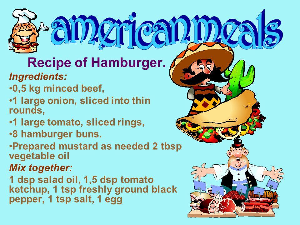 Recipe of Hamburger.