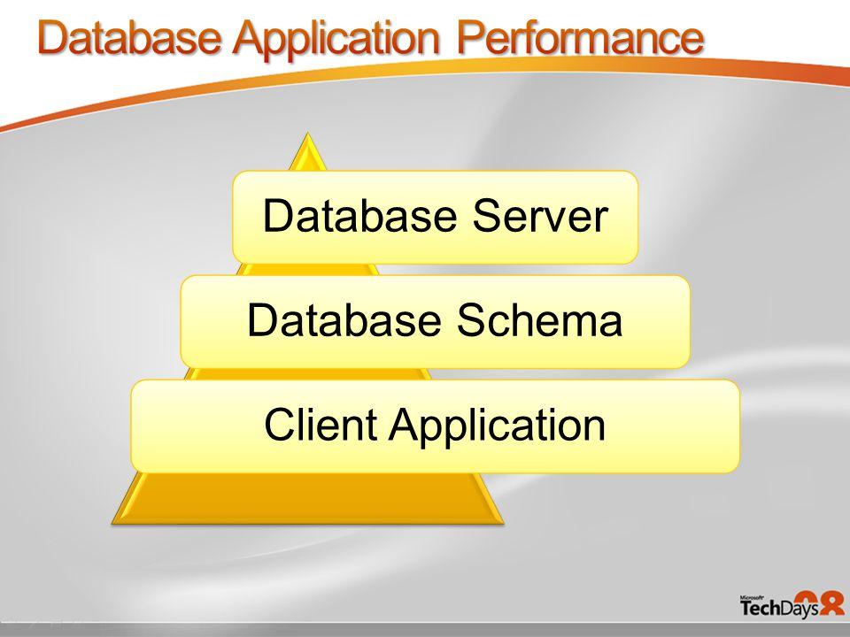 Database ServerDatabase Schema Client Application