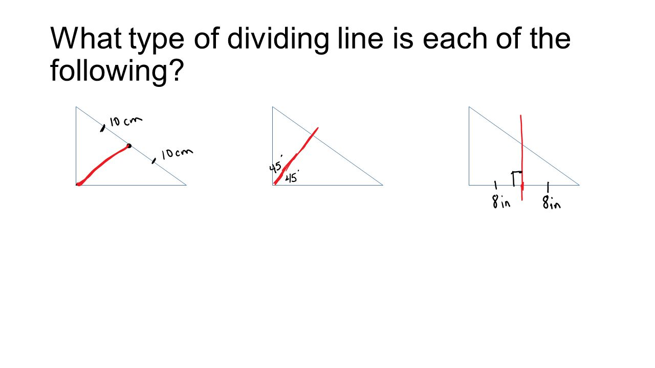What type of dividing line is each of the following
