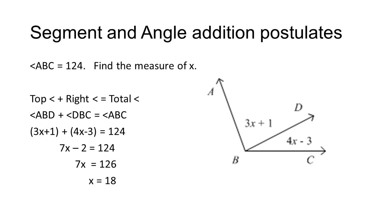 Midpoints M is the midpoint of AB.AM = 3x-6 and MB = 5x-12.