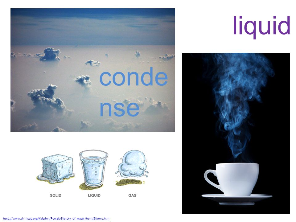 http://www.drinktap.org/kidsdnn/Portals/5/story_of_water/html/3forms.htm liquid conde nse