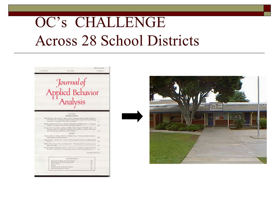 OC's CHALLENGE Across 28 School Districts