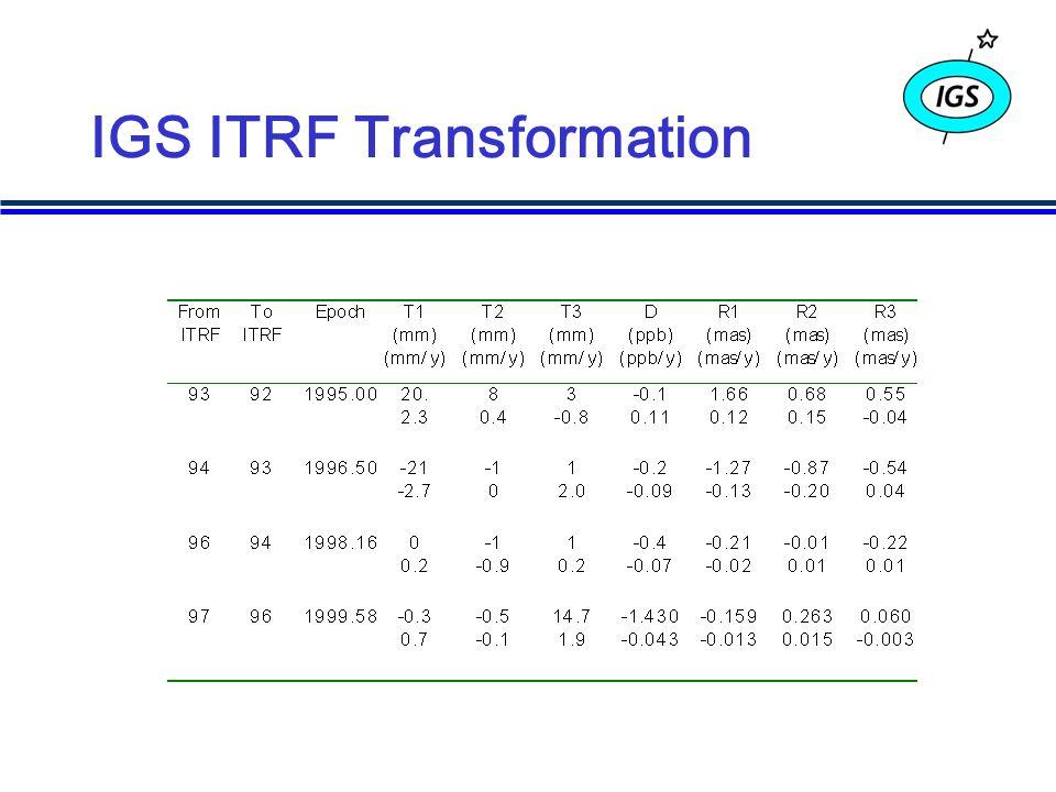 IGS ITRF Transformation