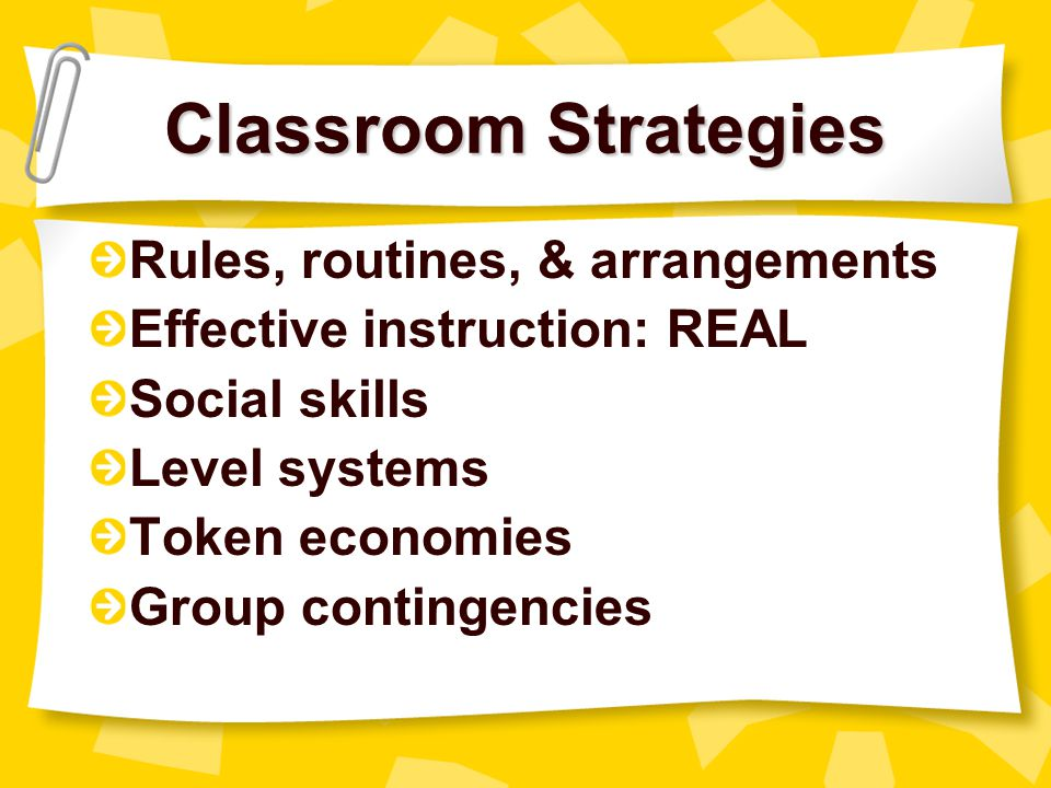 Characteristics of a Proactive Classroom High levels of student engagement Low levels of disruptive and off-task behavior Such classrooms don't just happen, they are the result of well-prepared teachers using evidence-based practices Proactive teachers understand and use positive behavior support