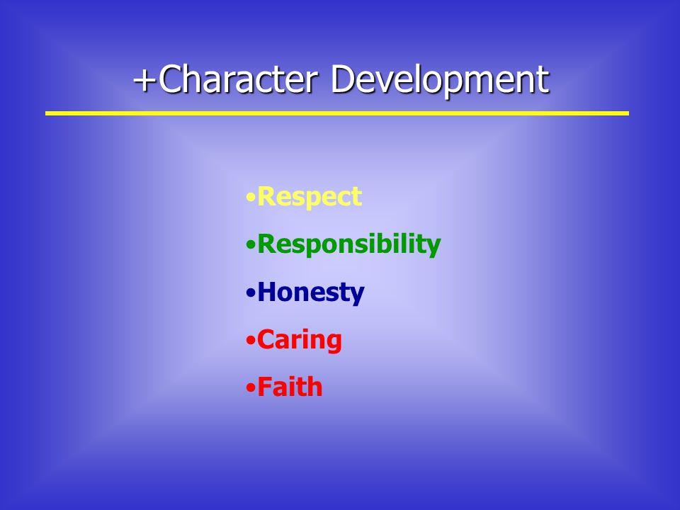 +Character Development Respect Responsibility Honesty Caring Faith