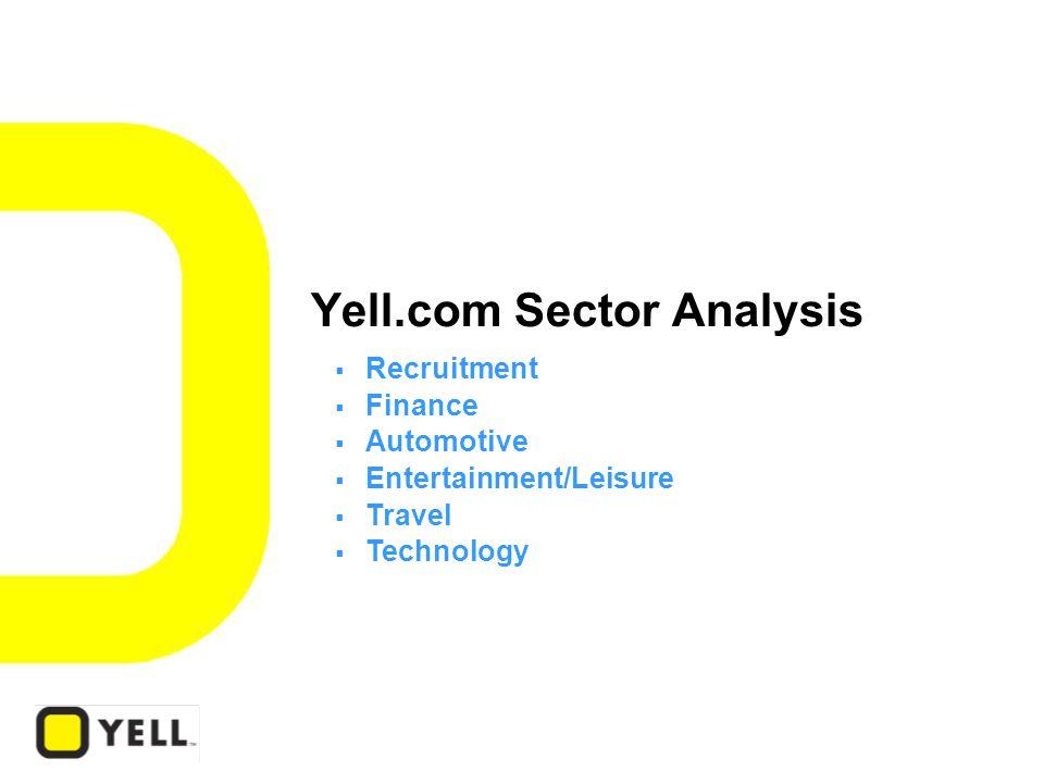 Yell.com Sector Analysis  Recruitment  Finance  Automotive  Entertainment/Leisure  Travel  Technology