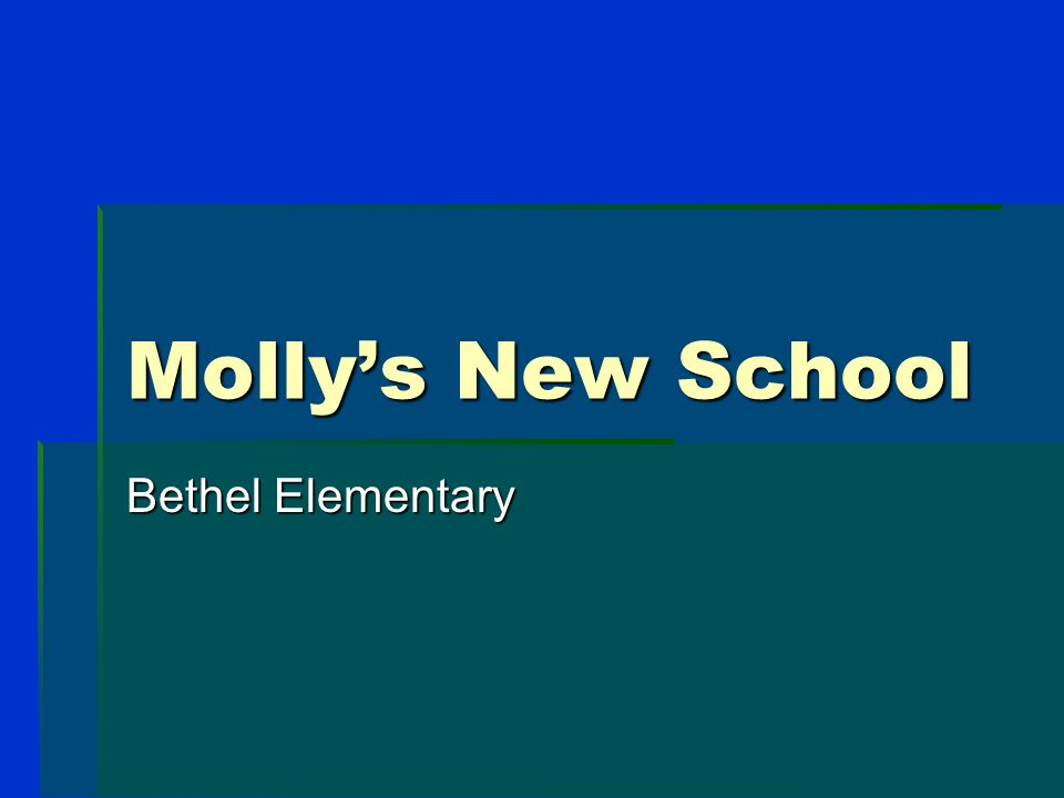 Molly McFadden Goes to Kindergarten Example of a PowerPoint Social Story to Introduce a Big Change in a Child's Life
