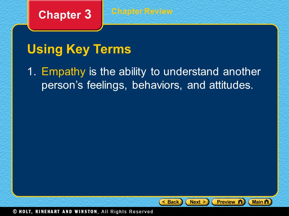 Chapter Review Chapter 3 Understanding Key Ideas 7.Which of the following symptoms is not a sign of depression.