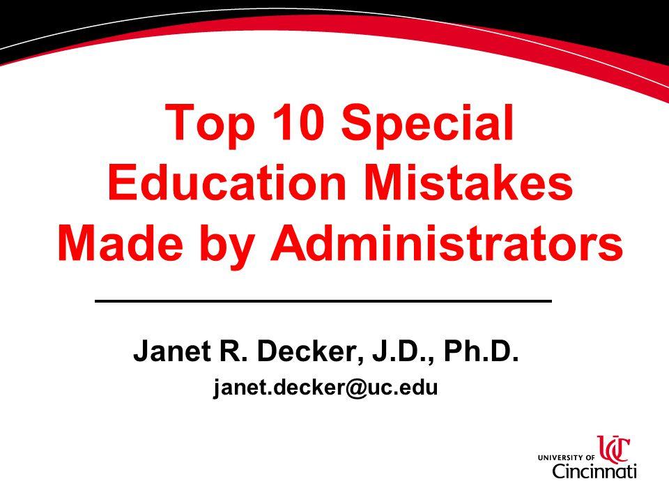 DISCLAIMER!!!! Mistakes attorneys make Mistakes parents make Mistakes teachers make