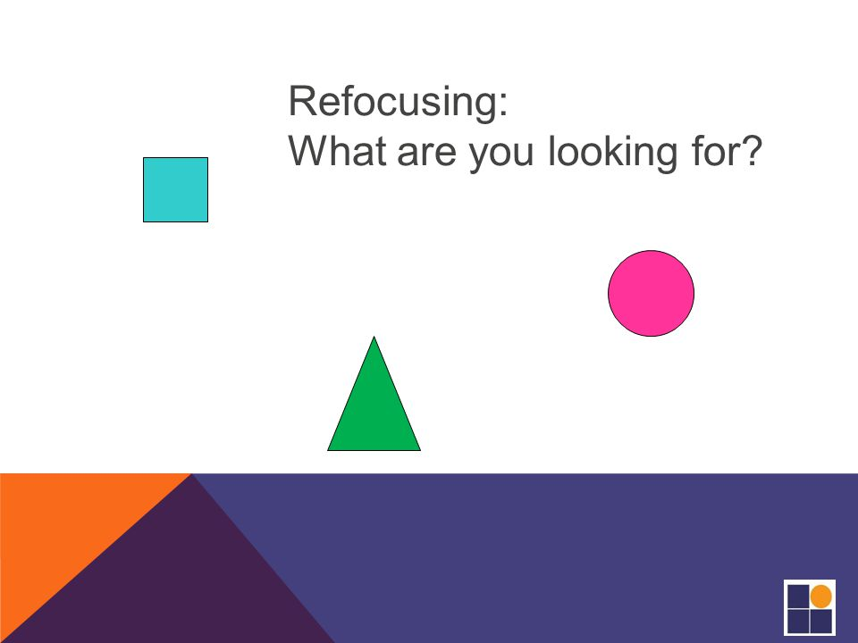 Refocusing: What are you looking for