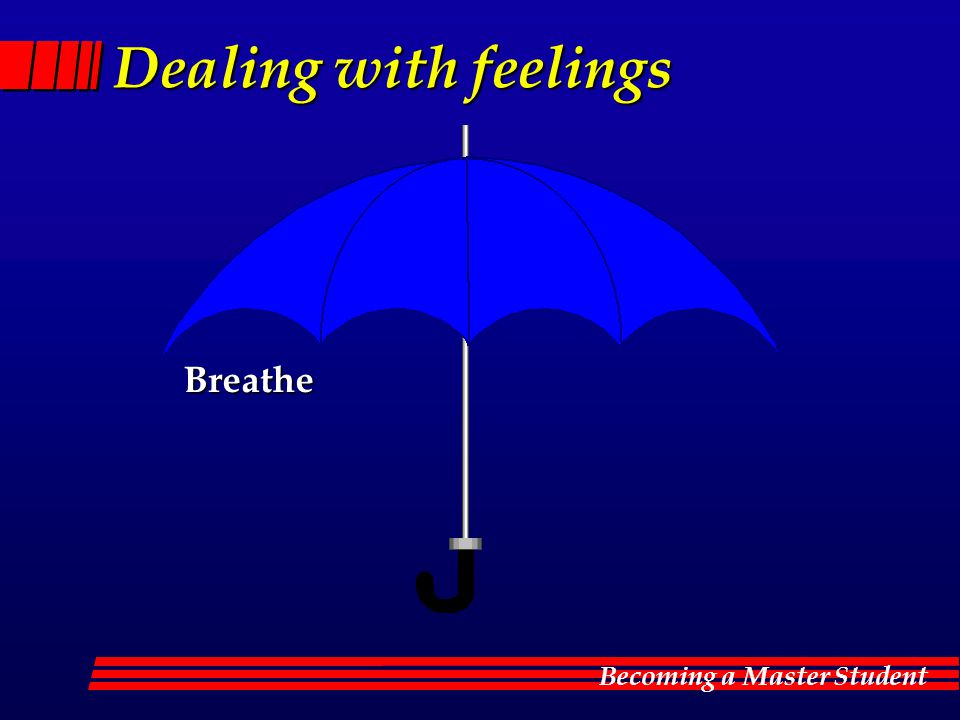 Becoming a Master Student Dealing with feelings Breathe