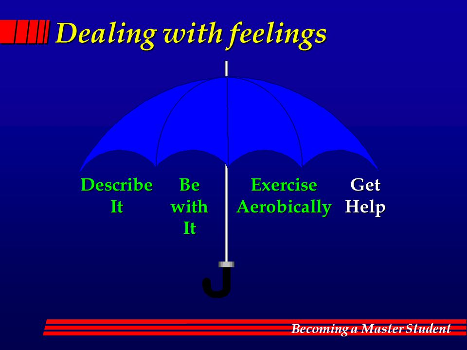 Becoming a Master Student Dealing with feelings DescribeItBewithItExerciseAerobicallyGetHelp
