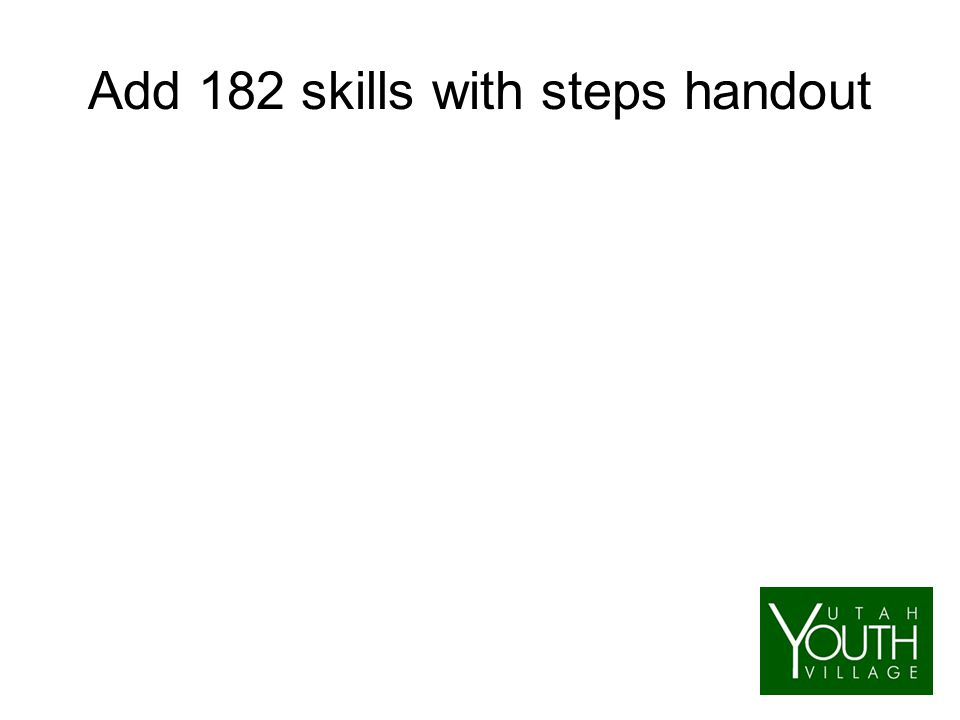 Add 182 skills with steps handout