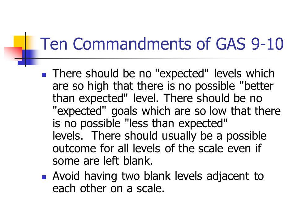 Ten Commandments of GAS 9-10 There should be no