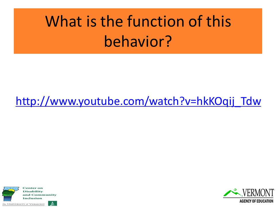 http://www.youtube.com/watch v=hkKOqij_Tdw What is the function of this behavior