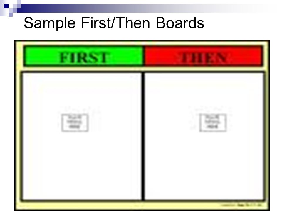 Sample First/Then Boards