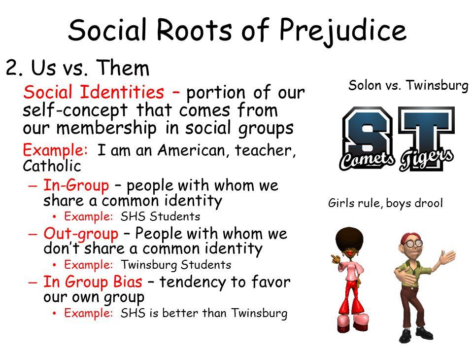 Social Roots of Prejudice 2.Us vs.