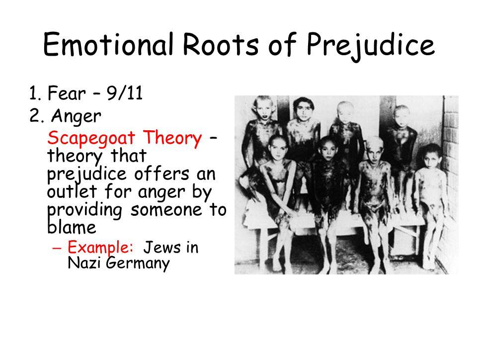 Emotional Roots of Prejudice 1.Fear – 9/11 2.