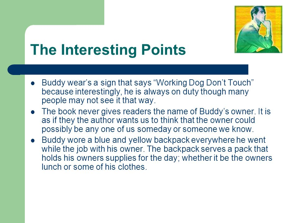 """The Interesting Points Buddy wear's a sign that says """"Working Dog Don't Touch"""" because interestingly, he is always on duty though many people may not"""