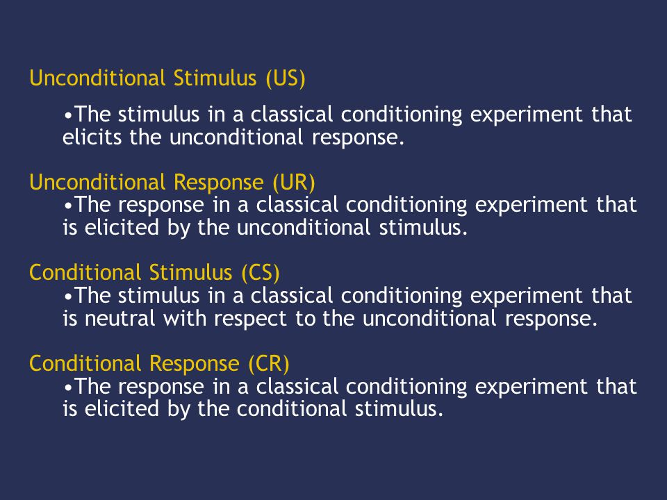 The stimulus in a classical conditioning experiment that elicits the unconditional response.