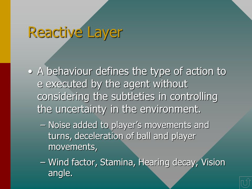 Responsibility Layer A set of responsibilities determines the set of actions required to execute strategies.A set of responsibilities determines the set of actions required to execute strategies.