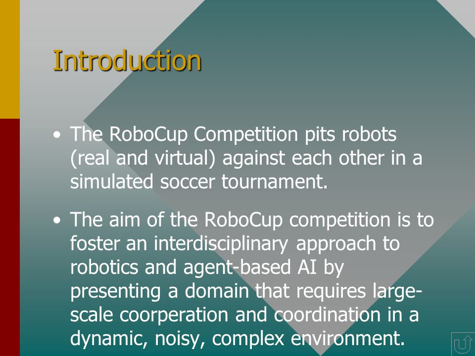 Agenda Introduction and Challenges. Architecture of RoboCup Soccer Simulator.