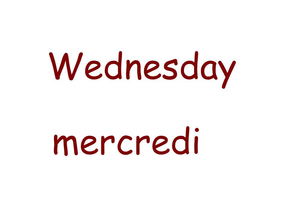 Monday lundi