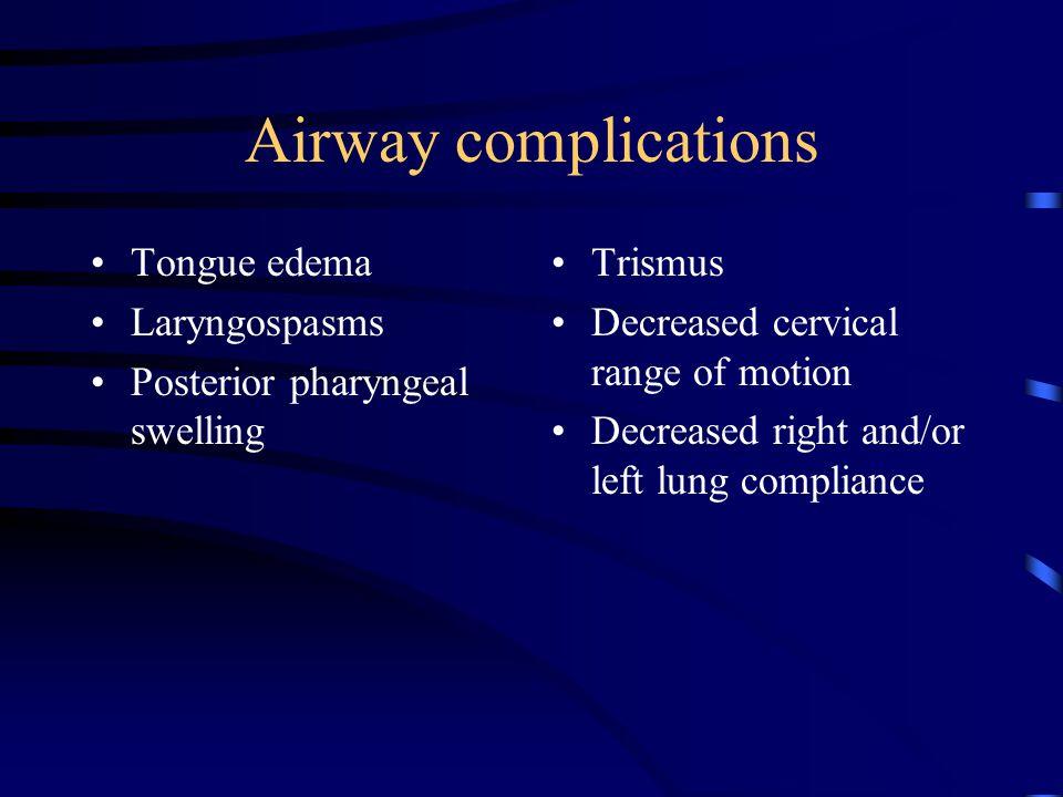 Airway management Bag-Valve-Mask devices Jet ventilation Standard ventilators Oral/nasal pharyngeal airways Light wand intubation