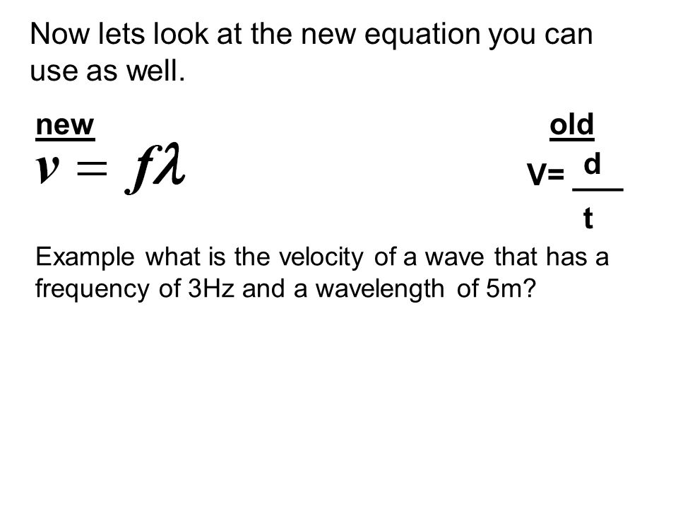 Now lets look at the new equation you can use as well.