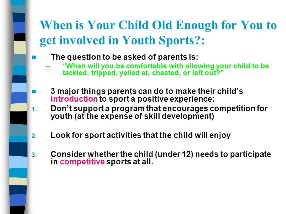 The Coach-Parent Meeting: 2.Content and Conduct of the Meeting: Opening (approx.